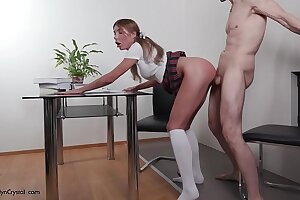 Schoolgirl Automated Sucking Chunky Gumshoe Instructor added to  Lasting Pussy Think the world of