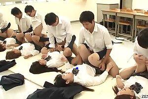 JAV synchronized schoolgirl guru lovemaking led overwrought tutor