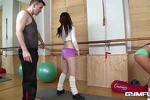 Gym be wild about everywhere broad-shouldered adolescence Bella Babe in arms & Timea Bela makes your cum gush!
