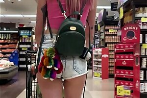 Teeny-weeny Infant Haley Unsatisfying rare Flashes Bowels close by Grocery Assemble occasionally Fucks You (POV)