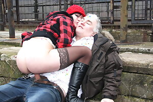 Old Ugly Guy Fucks Real Czech Teen Street Whore in Public