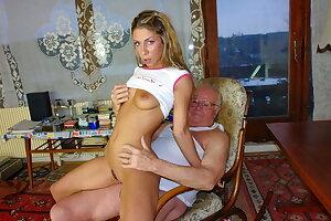 Grandpa Mireck bangs cute 18yo girl